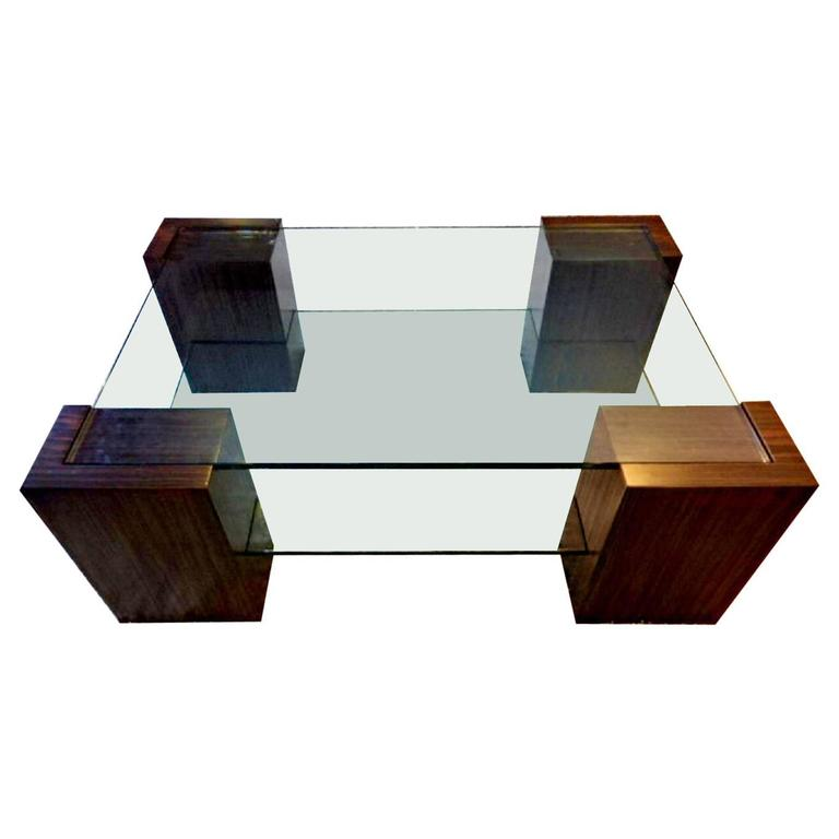 Ebony Tiered Cocktail Table
