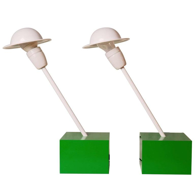 Pair of Table Lamps DON Designed by Ettore Sottsass for Stilnovo, Milano, 1973 1