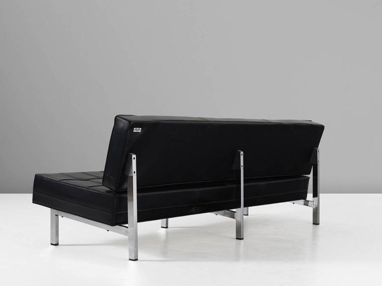 Ico parisi black leather sofa for mim roma for sale at 1stdibs - Sofa roma ...
