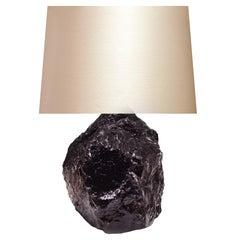 Pair of Natural Rose Quartz Rock Crystal Lamps
