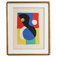 Lithograph in Colors 'Composition' by Sonia Delaunay