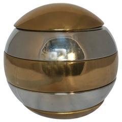 1960s Italian Decorative Ball Ashtray by Willy Rizzo