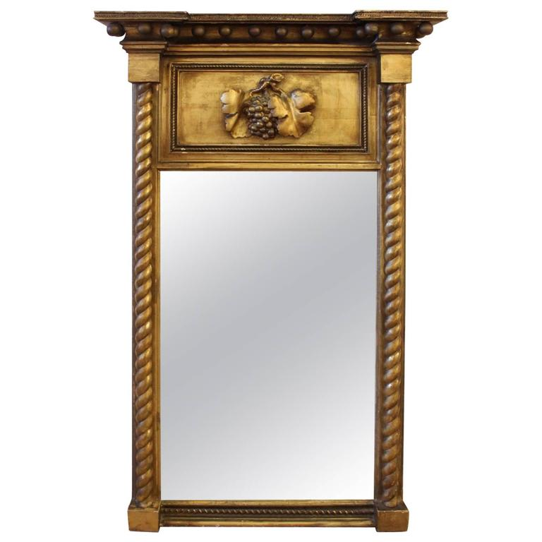 Federal Style Giltwood Mirror At 1stdibs
