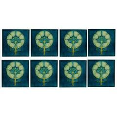 Pilkington's Lancastrian Tile Works. Ten Arts & Crafts six inch tube-lined tiles