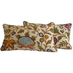 Vintage Crewel Pillows by Mary Jane McCarty