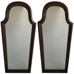 Pair of Wood Mirrors 'Kling'