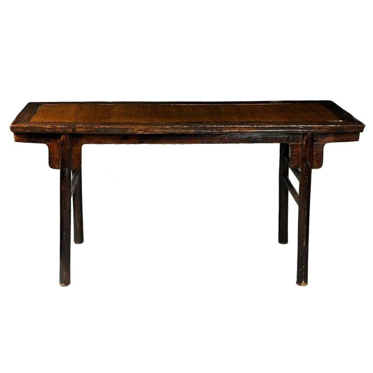 Antique chinese table with bamboo inlay for sale at 1stdibs for Antique chinese tables for sale
