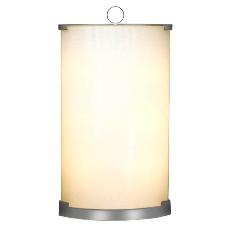 Fontana Arte Nickel and Glass Lamp