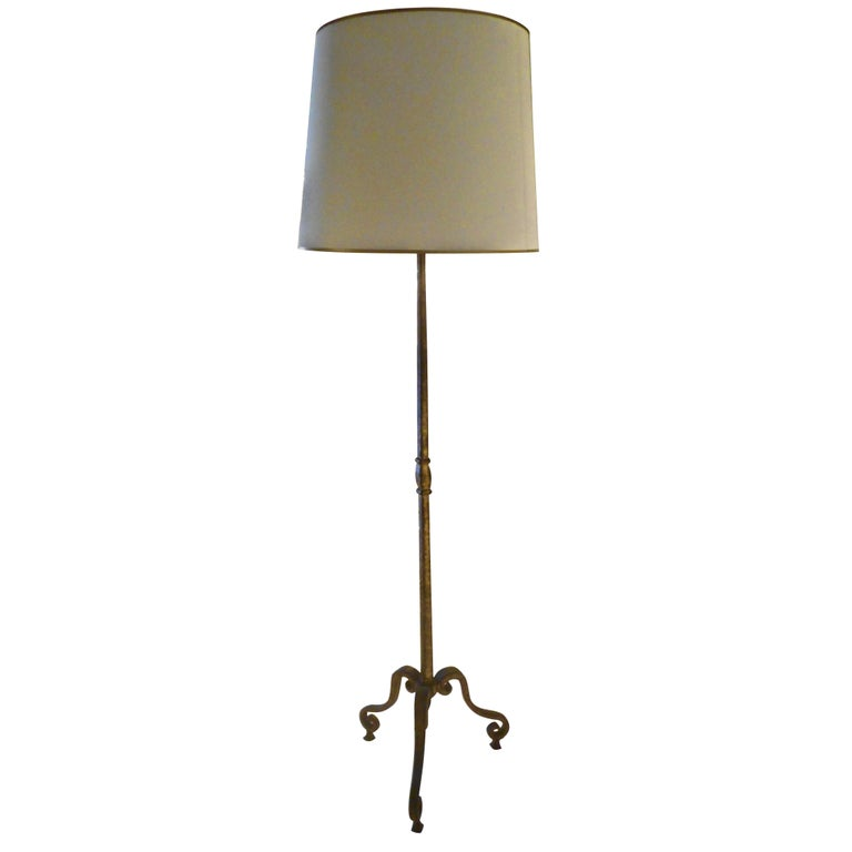 Gilt Bronze Tripod Floor Lamp By Maison Ramsay For