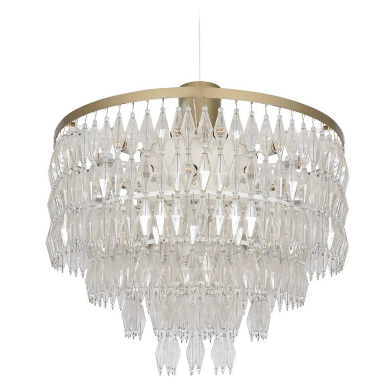 Large 1950s German Chandelier