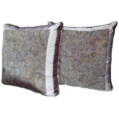 Pair of Etro Amethyst Silk Pillows