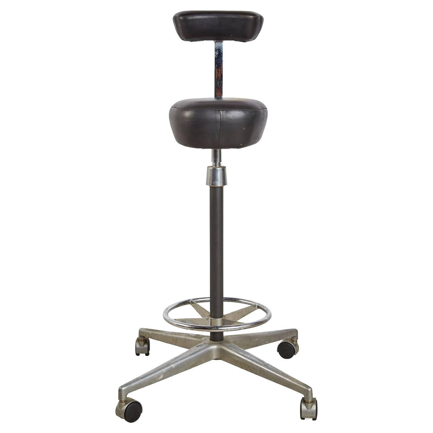 George Nelson for Herman Miller Adjustable Height Drafting Stool
