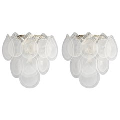 Pair of Italian Murano Teardrop Glass Sconces
