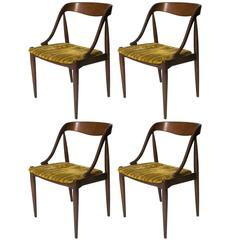 Set of Four Johannes Andersen Rosewood Dining Chairs