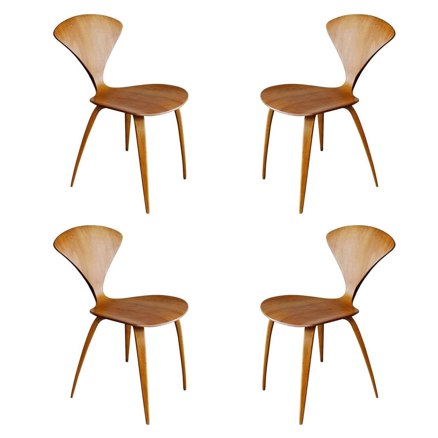 Pair of Mid Century Modern Bentwood Chairs in the Style of Norman