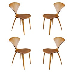 Plycraft Sculptural Dining Chairs by Norman Cherner, set of four