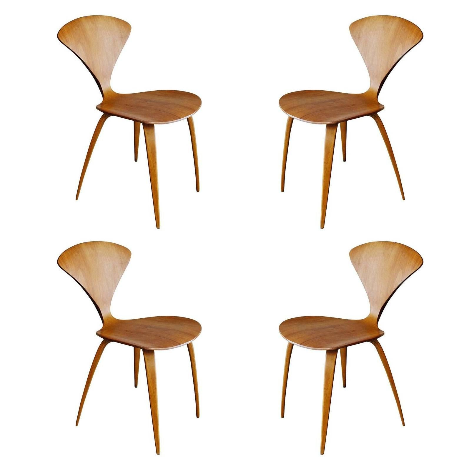 Plycraft Sculptural Dining Chairs By Norman Cherner