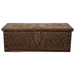 19th Century Raj Studded Hardwood Chest