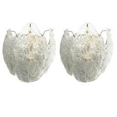 Pair of Leaves Sconces by Mazzega