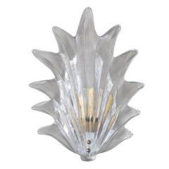 Italian Murano Glass Leaf Sconces by Barovier e Toso