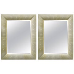 Italian Shagreen Rectangular Mirror
