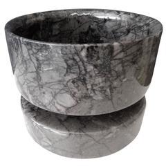 1960s Angelo Mangiarotti Carrara Marble Centerpiece Bowl for Knoll