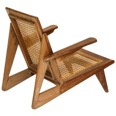 Cane Lounge Chair 1950 France Brazil Style Mid-Century