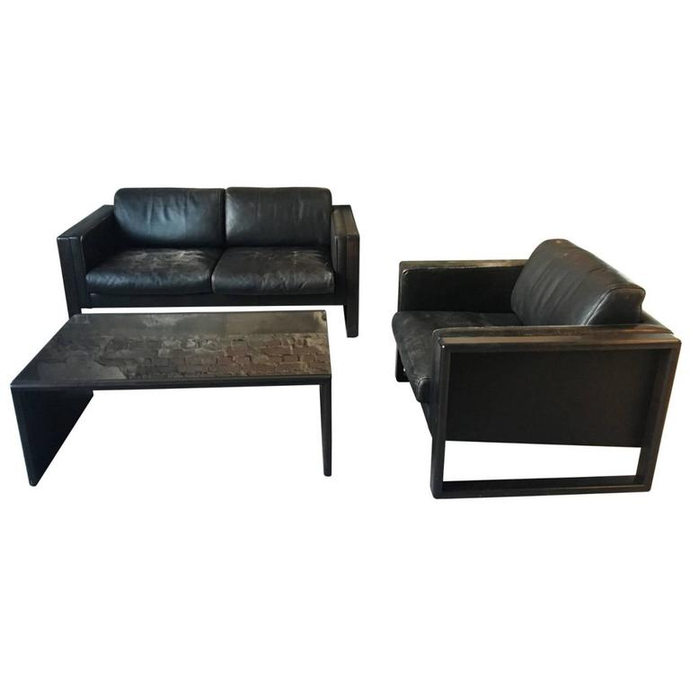Rare Cubic Livingroom/Sofa Set by Walter Knoll, 1970s For Sale