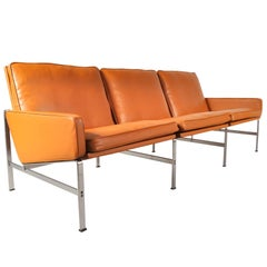 Sofa by Preben Fabricius & Jørgen Kastholm for Kill International, circa 1960