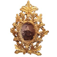 Photograph in Gilt Metal Frame