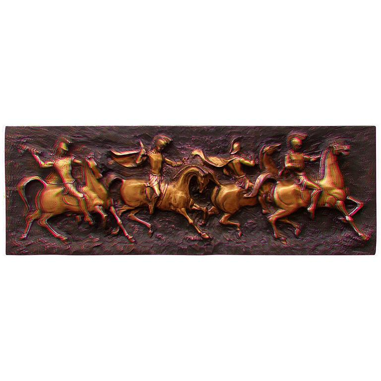 Wall Sculpture Of Roman Soldiers At 1stdibs