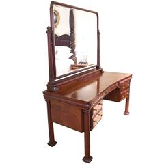 New York City Mahogany Belle Époque Vanity or Dressing Table, circa 1890