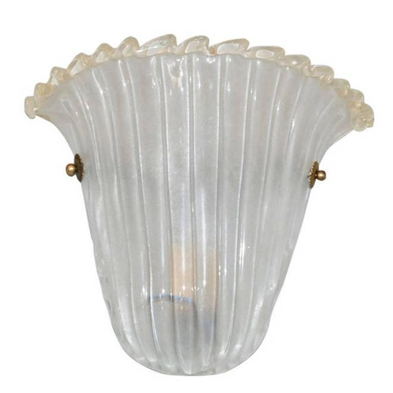 Italian Murano Glass Shield Sconce by Barovier e Toso