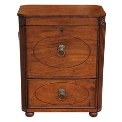 English Mahogany Cellarette from the Mid 19th Century with Lined Interior