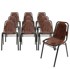 "Set of ten Chairs Mod. ""Les Arcs"""