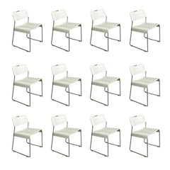 1971, Rodney Kinsman, Set White Omstak Stacking Chairs