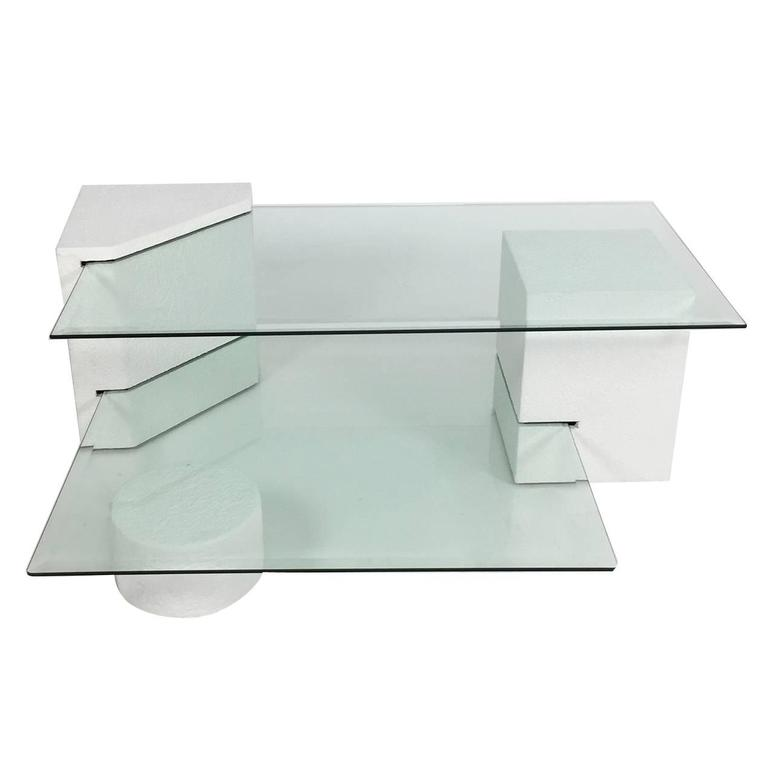 PostModern Geometric MultiTiered Coffee Table S At Stdibs - Post modern coffee table