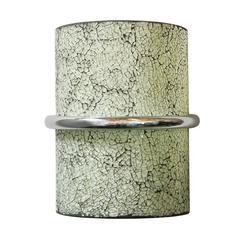 Crackled White Glass Sconces by Fabio Bergomi
