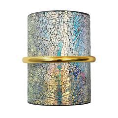 Crackled Iridescent Glass Sconces