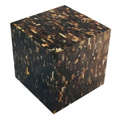 Tessellated Horn Cube Side Table