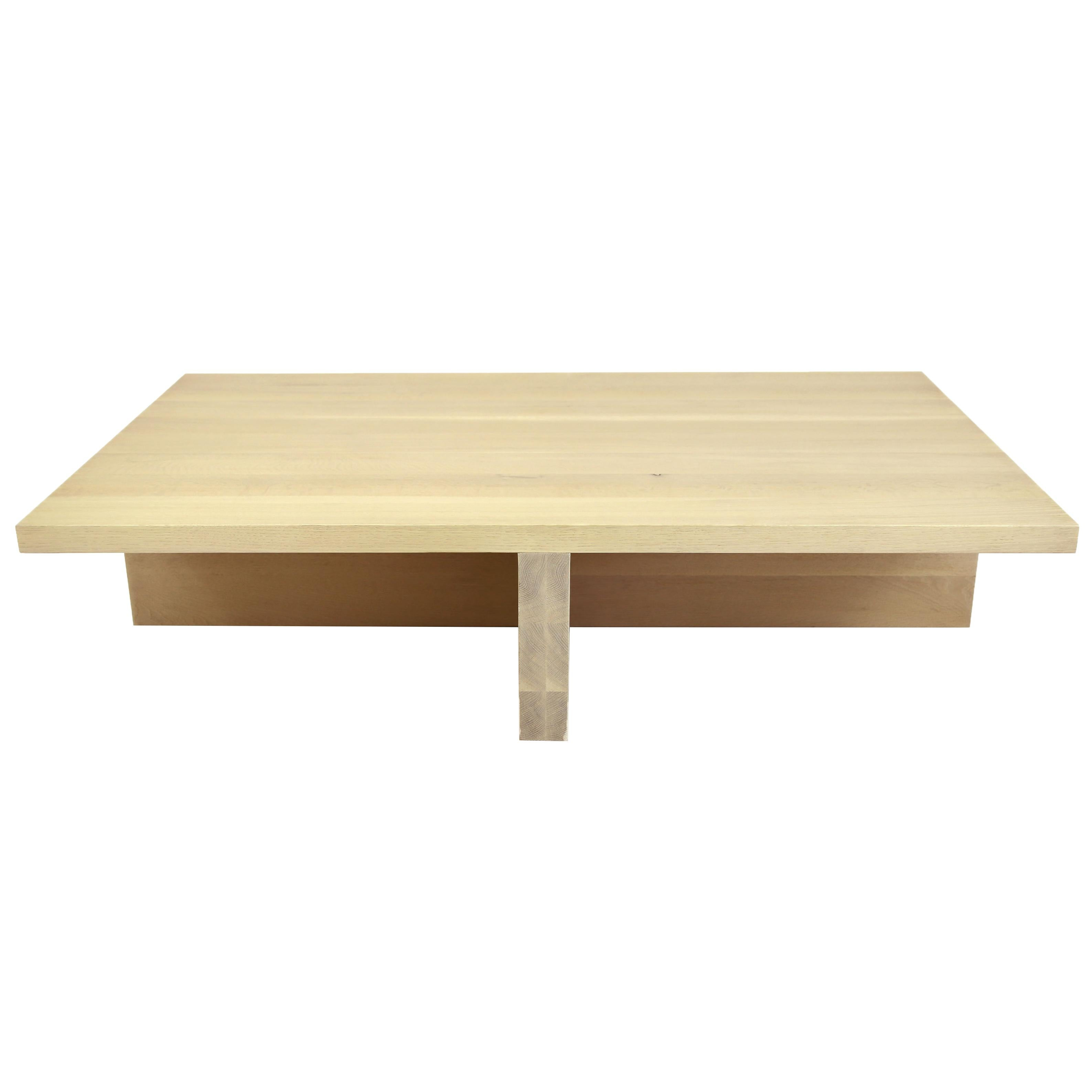 Genial Shimna White Oak Minimal Coffee Table For Sale