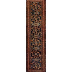 Antique Blue and Red Lilihan Runner Rug