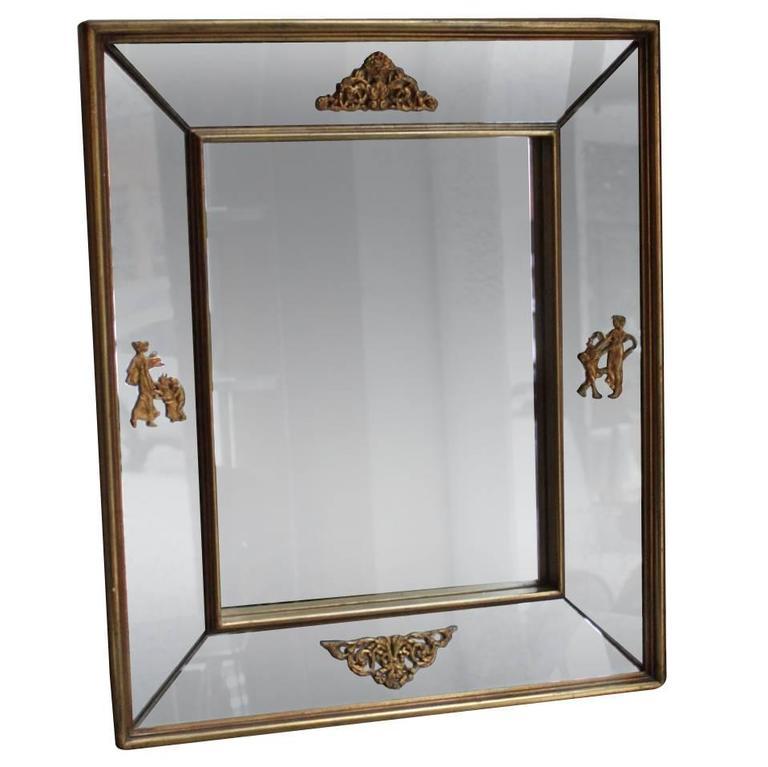 Venetian Mirror with Bronze Mounts