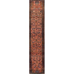 Antique Rose and Brown Lilihan Runner Rug