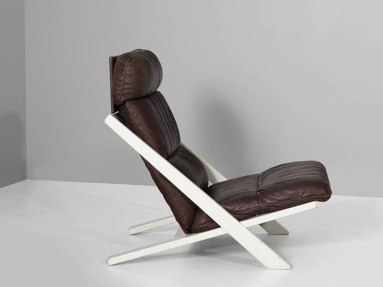 uli berger lounge chair in brown leather for de sede switzerland for