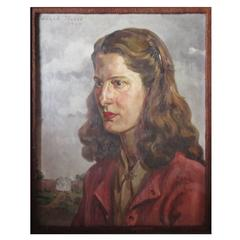 Edward Hurst Oil on Canvas 1944 Portrait