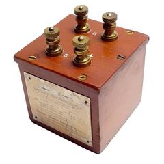 Vacuum Thermocouple Circa Early 20th Electrical Device, As Sculpture