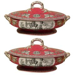 Royal Staffordshire, Yedo Pair of Serving Dishes with Lids, 20th Century