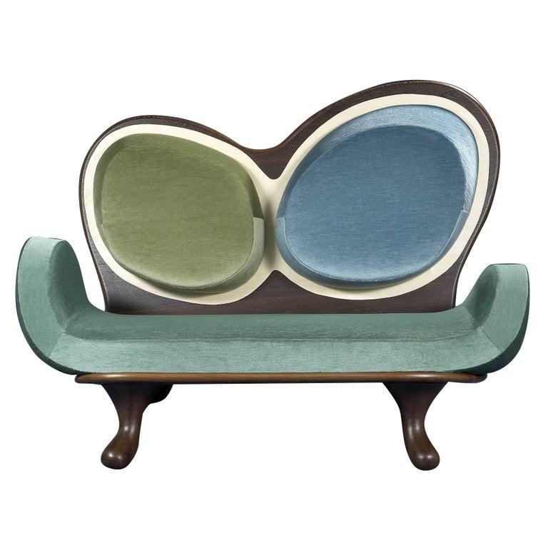 Surf Sofa by Mattia Bonetti.  In stock For Sale