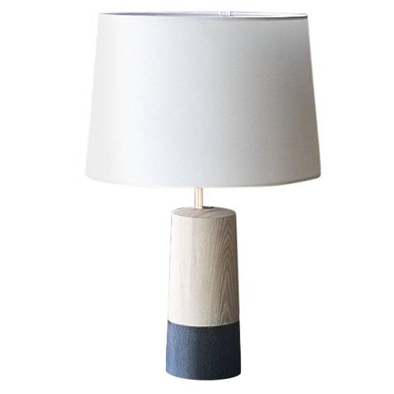 Solid Wood Table Lamp For Sale